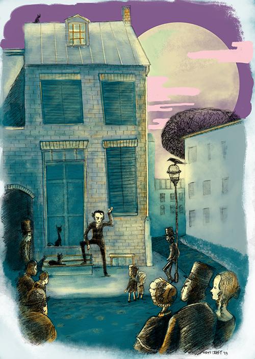 Edgar Allen Poe stoop stories